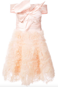 Strapless Bow Dress - Blush