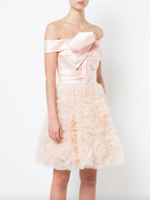 Load image into Gallery viewer, Strapless Bow Dress - Blush