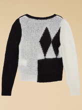 Load image into Gallery viewer, Intarsia Jumper - Black/White