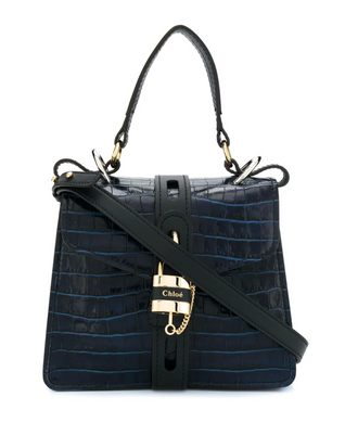 Aby Day Bag - Croc Effect Day Blue