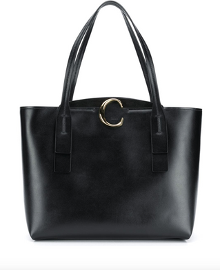 Medium C Tote - Black