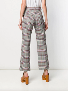 Plaid Pant - Grey/Pink