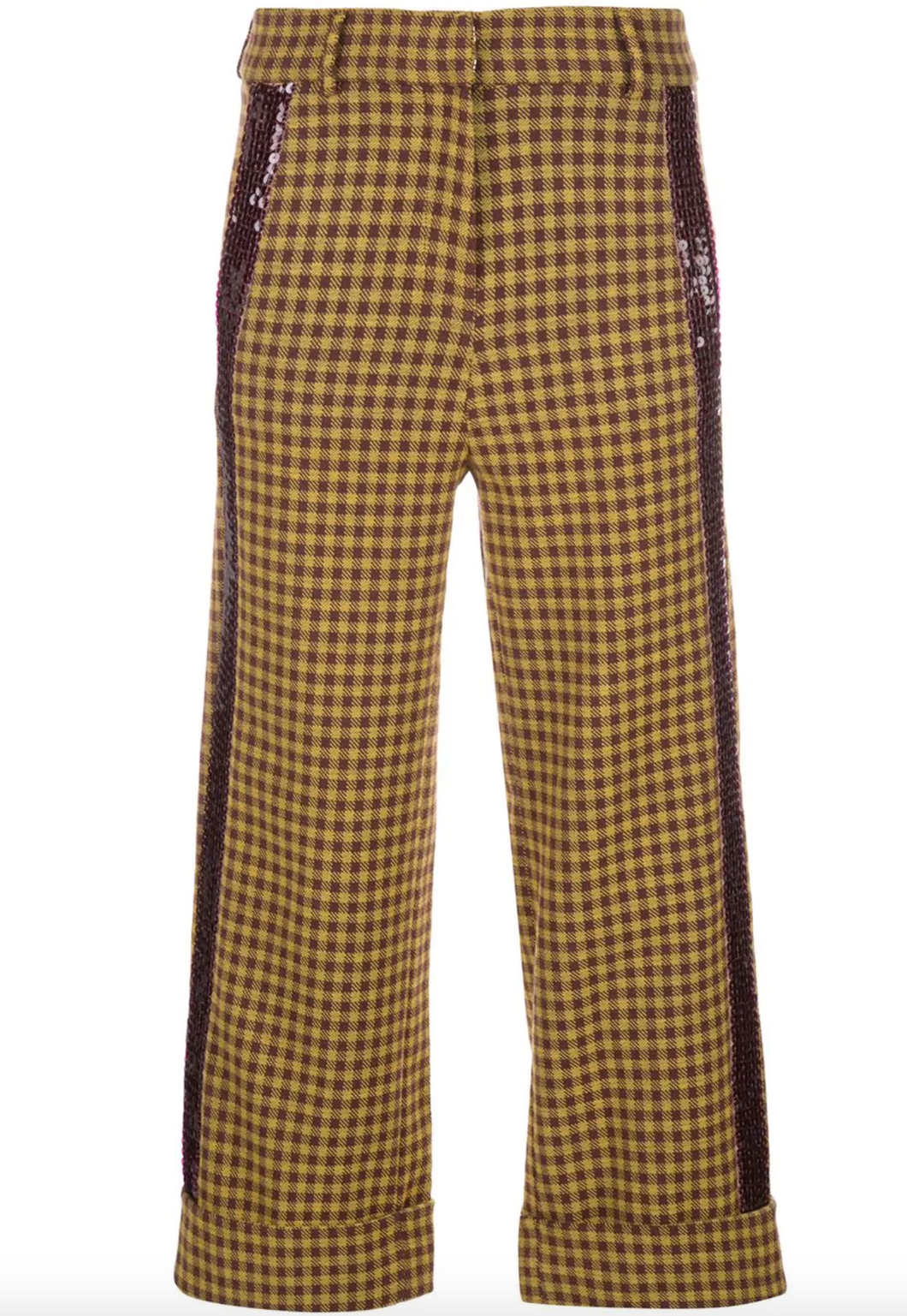 Dacil Pant - Burgundy/Yellow