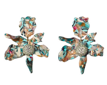Load image into Gallery viewer, Crystal Lily Earring - Turquoise Confetti