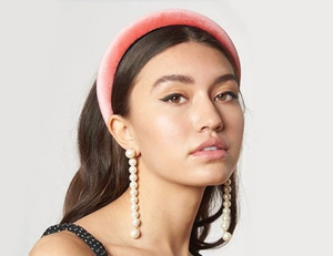 Padded Velvet Headband - Rouge Pink