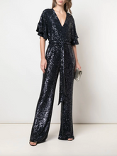 Load image into Gallery viewer, Beatrice Sequin Jumpsuit - Midnight
