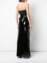 Load image into Gallery viewer, Siena Sequin Gown - Midnight Jet