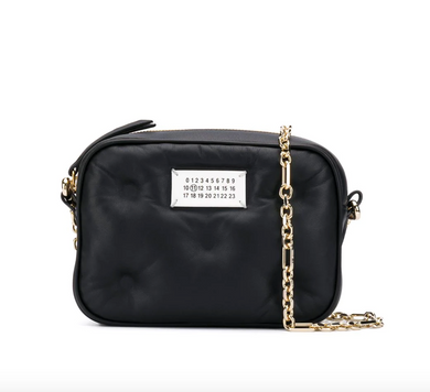 Logo Patch Crossbody Bag - Black