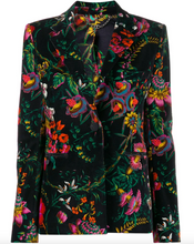 Load image into Gallery viewer, Velvet Blazer - Floral Multi