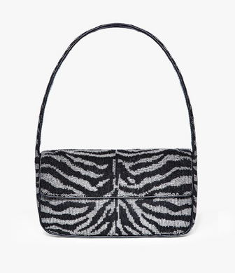 Tommy Beaded Bag - Black/White