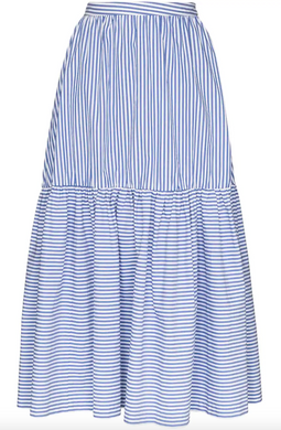 Orchid Skirt - Blue/White Stripe