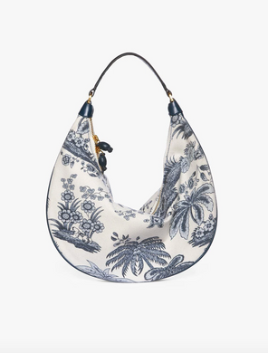 Sasha Canvas Bag - Majorca Blue Toile
