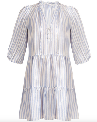 Hawken Stripe Dress - Blue/White