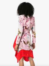 Load image into Gallery viewer, Floral Belted Dress - Pink