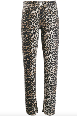 Slim-fit Jeans - Leopard