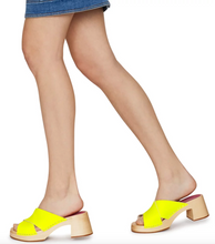 Load image into Gallery viewer, Annette High Sandal - Neon Yellow