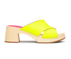 Annette High Sandal - Neon Yellow