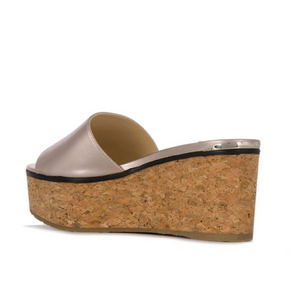 Deedee 80mm Platform Wedge - Platinum