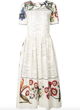 Load image into Gallery viewer, Floral Script Print Dress - Ecru Multi