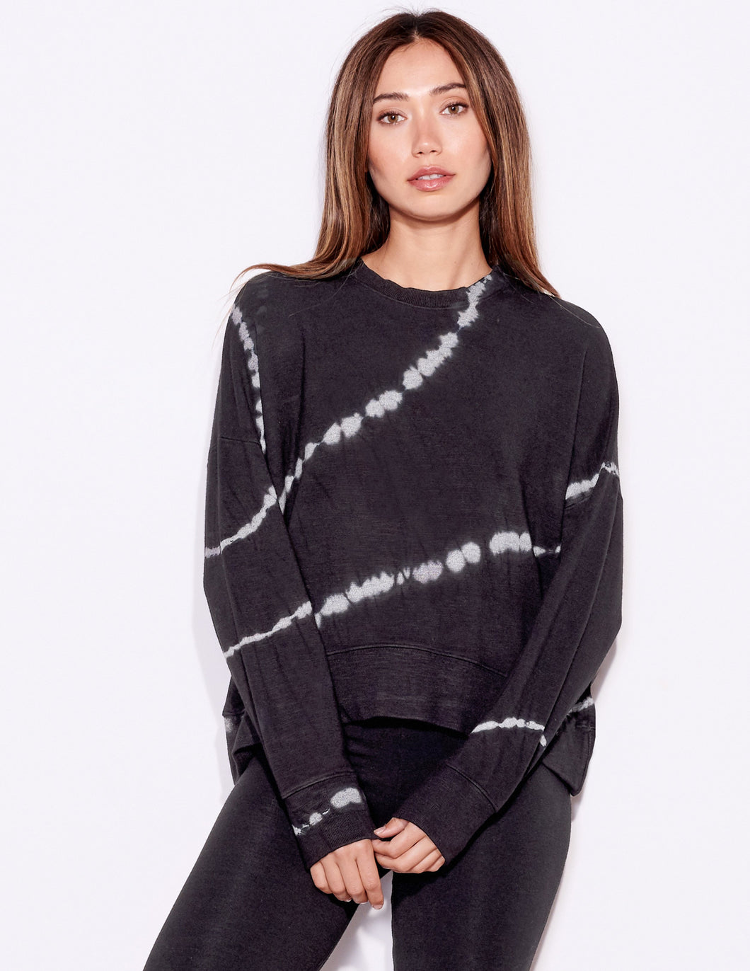 Tie Dye Oversized Sweatshirt - Coal