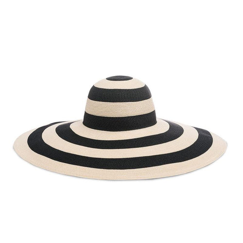 Sunny Striped Hat - Ivory/Black