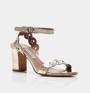 Bobbin Block Mirror Crack Sandals- Champagne