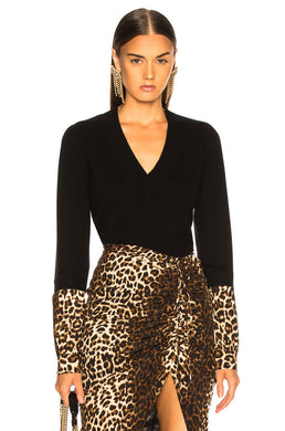 Alba Sweater - Black/Cheetah