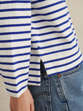 Load image into Gallery viewer, Lakeside Striped Tee - Natural/Blue