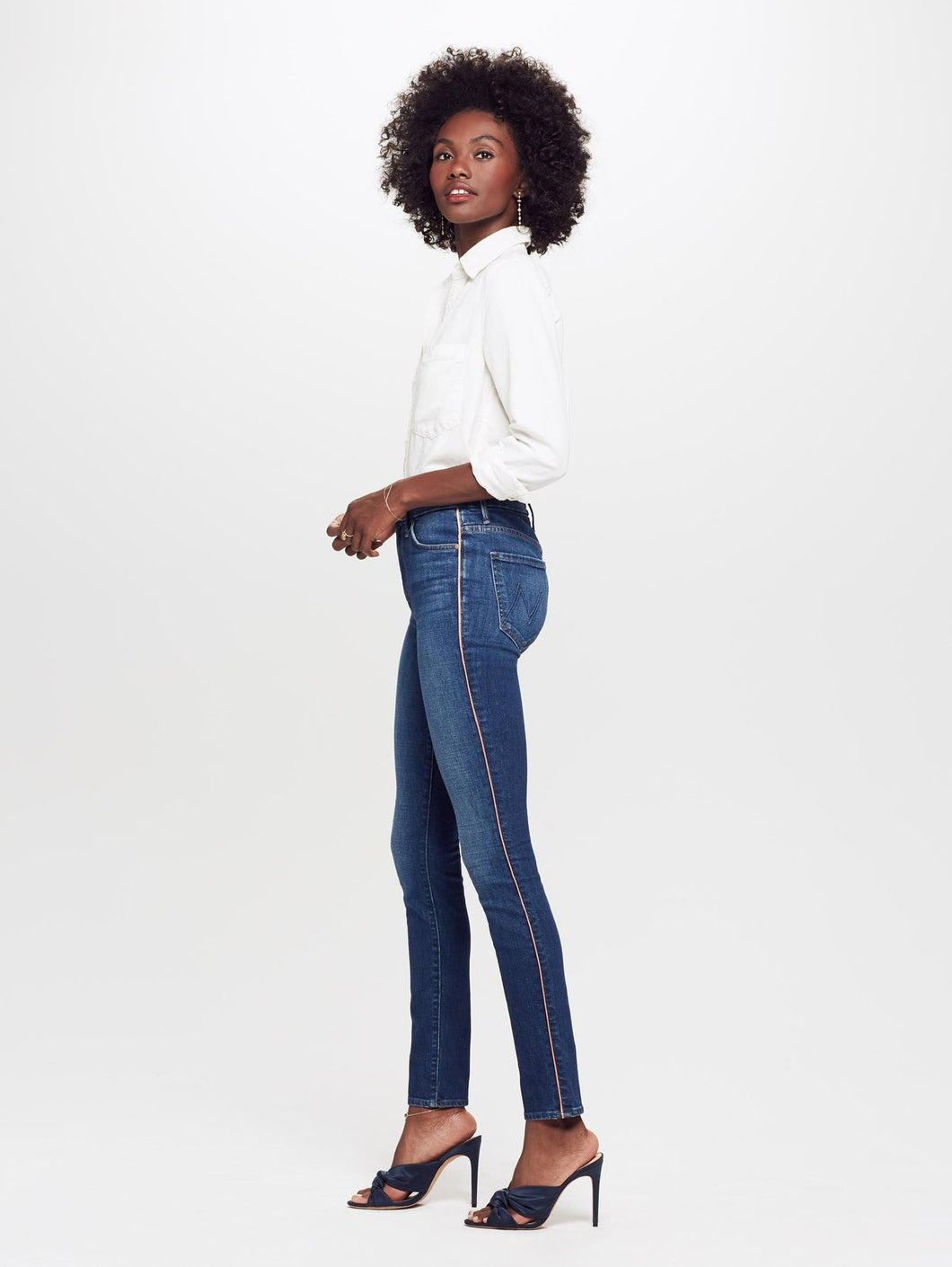 The High Waisted Looker Jean - Pink Stripe