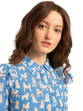 Load image into Gallery viewer, Zimmer Blouse - Blue Poodles