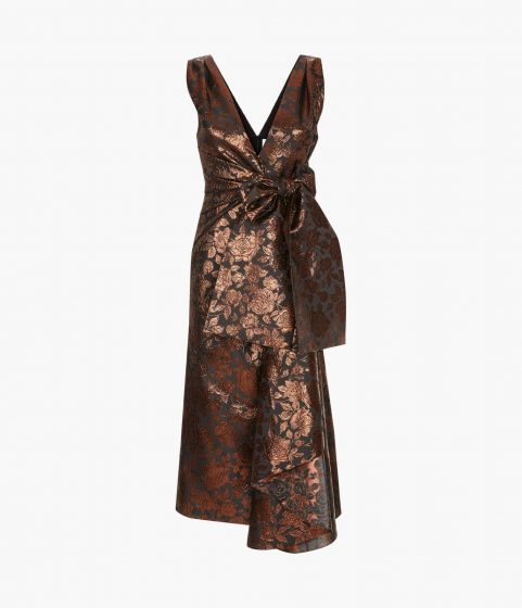 Rosalie Dress - Rose Luxe Jacquard
