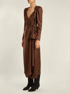 Jaquard Dress - Brown