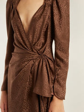 Load image into Gallery viewer, Jaquard Dress - Brown