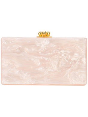Jean Solid Clutch - Nude