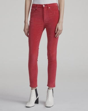 High Rise Velvet Skinny - Chili Pepper