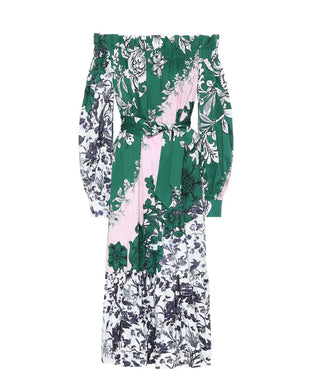 Brigida Dress - Green/Pink
