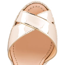 Load image into Gallery viewer, Almeria 120mm Wedge Sandal - Light Gold