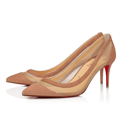 Galativi 70mm Suede Pump - Nude