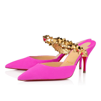 Planet Choc 80mm Mule - Diva Pink/Gold