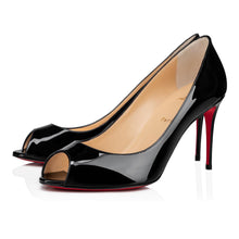 Load image into Gallery viewer, Roxane 85mm Patent Leather Pump - Black