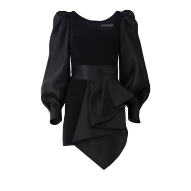 Dilek Belt Dress - Black
