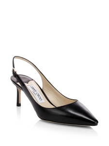 Erin 60 Leather Slingback Pumps - Black