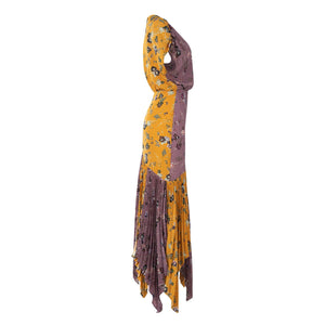 Drustil Dress - Lavender/Yellow Floral