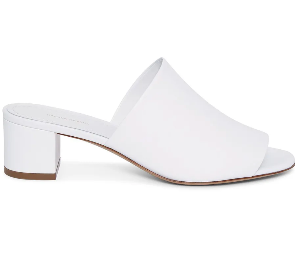 Lamb 40mm Mule - White