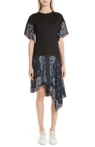 Handkerchief T-Shirt Dress - Black/Midnight