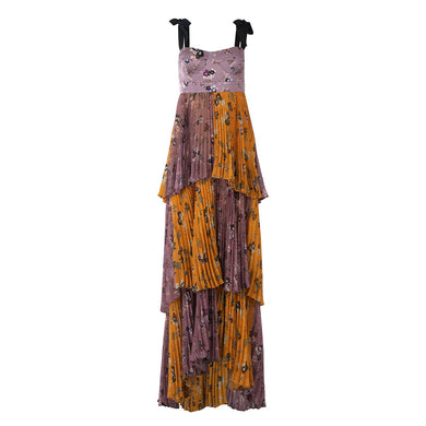 Daria Dress - Lavender/Yellow Floral