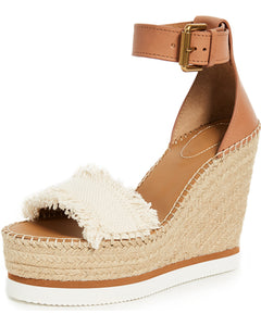 Glyn Platform Wedges - Natural