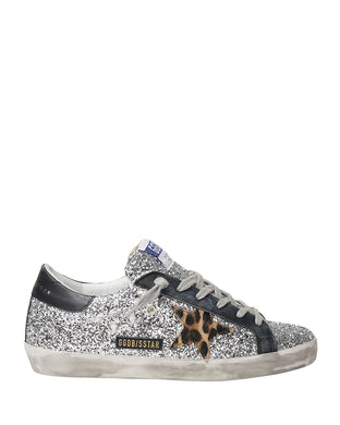 Superstar Sneaker - Silver Glitter/Black