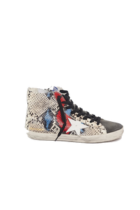 Francy Sneaker - Red/Blue Snakeskin