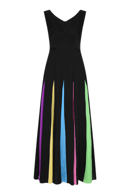 Jade Rainbow Gown - Black